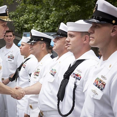 Navy Soldiers in Uniforms