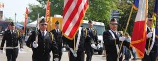 veterans at a parade